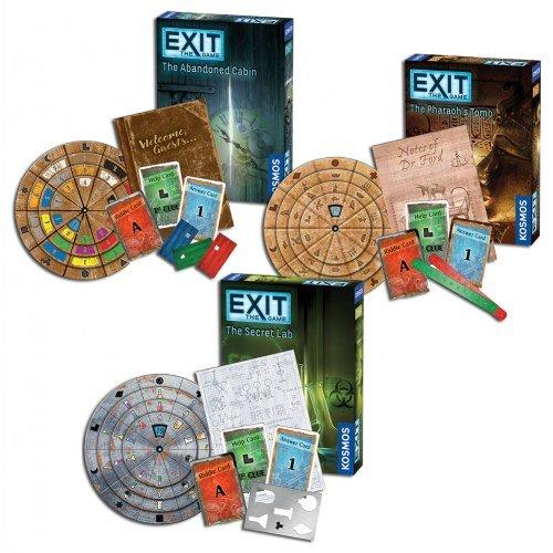 Thames & Kosmos Exit the Game Bundle of 3