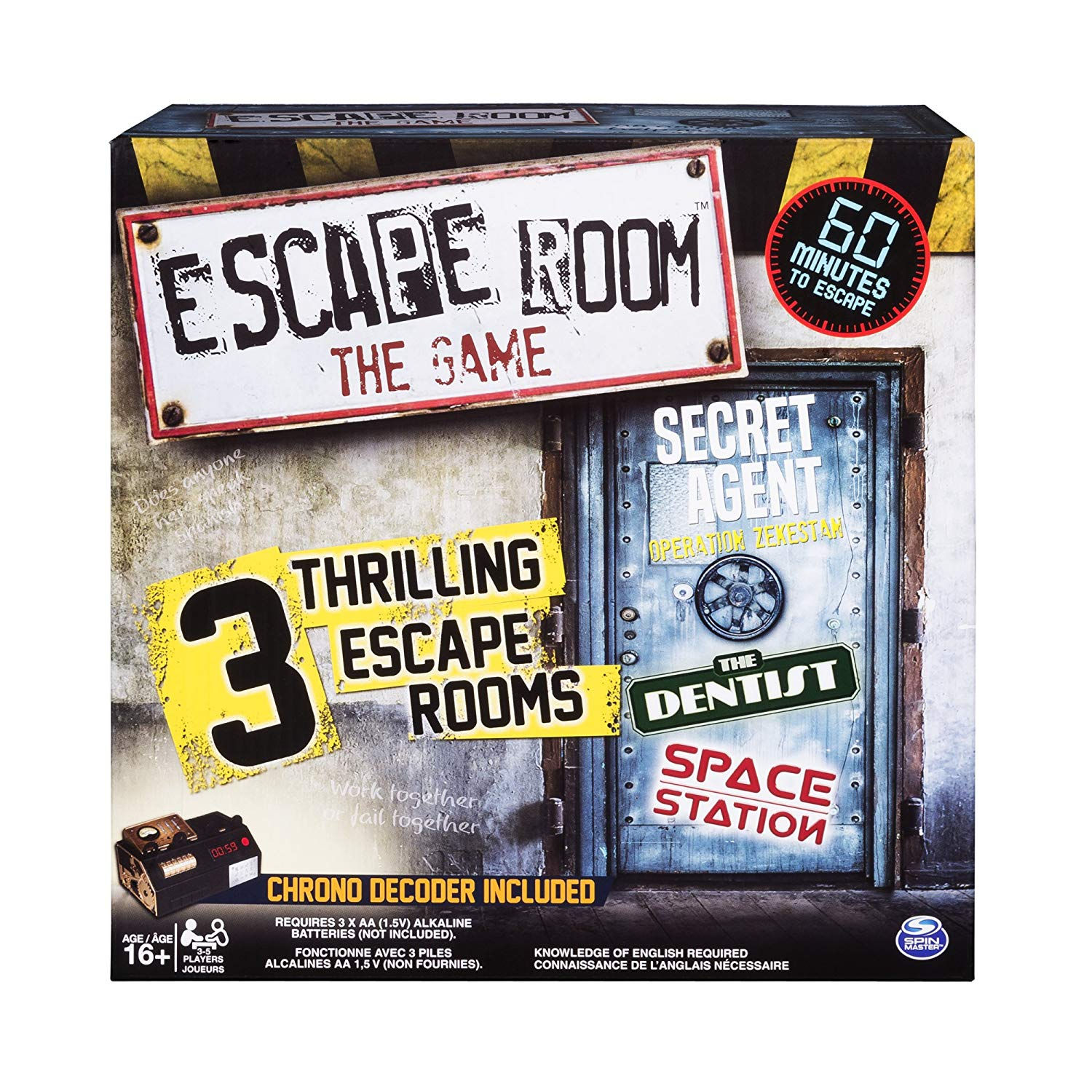 Spin Master Games – Escape Room, The Game with 3 Escape Rooms, Ages 16 and Up